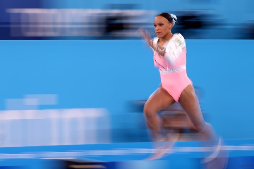 Rebeca Andrade tenta terceira medalha nas Olimpíadas de Tóquio — Foto: Jamie Squire/Getty Images