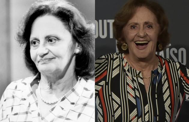Laura Cardoso era Marta, que criou Cláudia (Malu Mader) desde que ela ficou órfã. O último papel da atriz foi em 'A dona do pedaço' (Foto: TV Globo)