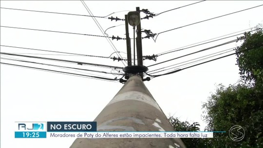 Moradores de Paty do Alferes sofrem com constantes quedas de energia