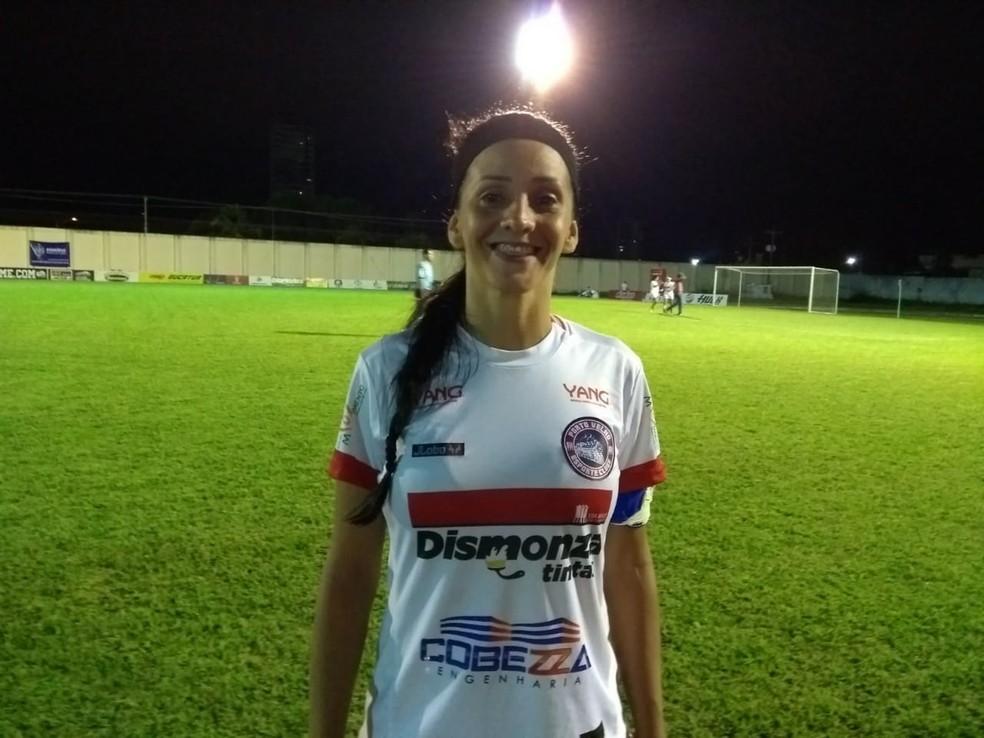 Rosinha capitã do Porto Velho fala de torcida por companheira que está no Palmeiras — Foto: Jheniffer Núbia