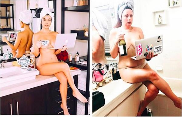 Uma das montagens compartilhadas pela comediante australiana Celeste Barber (Foto: Instagram)