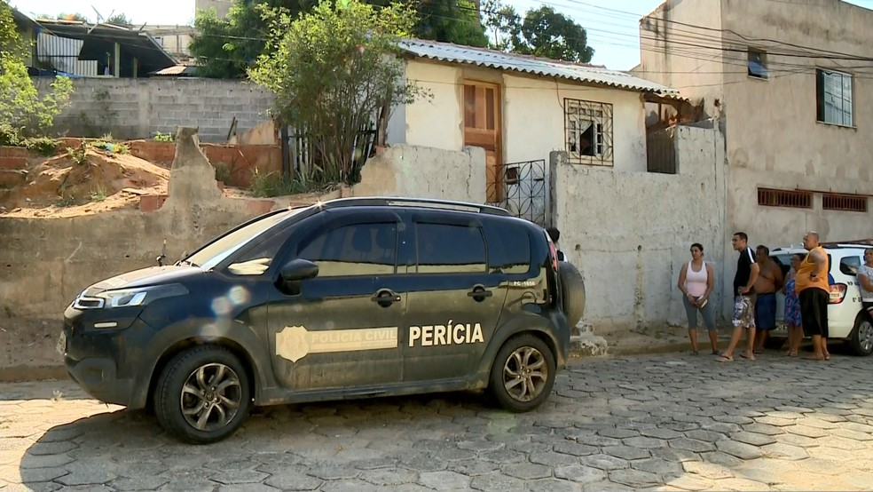 Polícia Civil investiga morte de idosa, em Colatina, no ES — Foto: Heriklis Douglas/ TV Gazeta