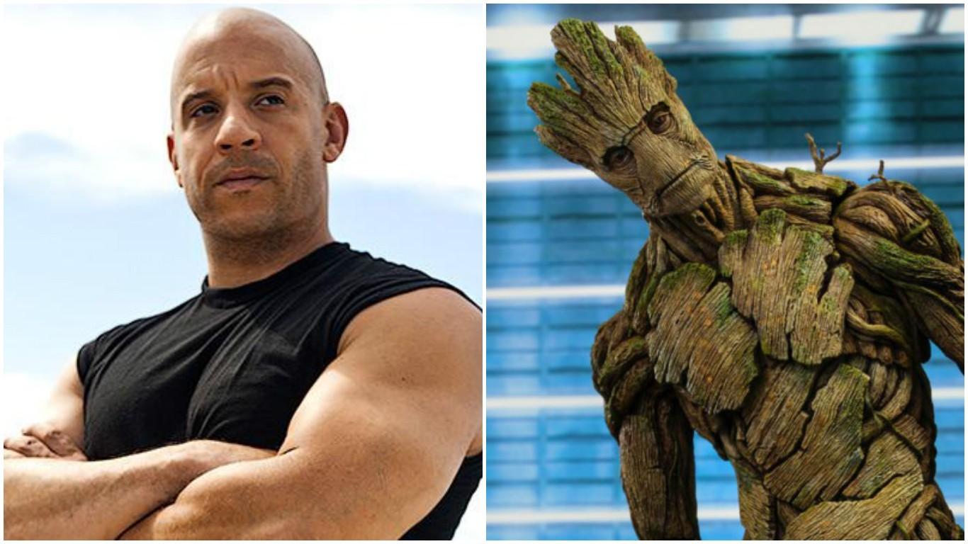 Vin Diesel e Groot (Foto: Divulgação)