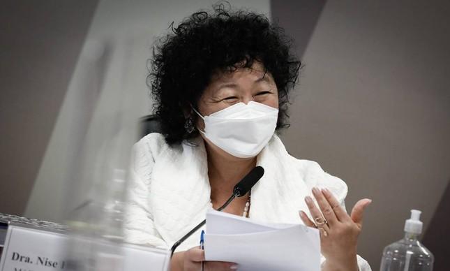 Nise Yamaguchi, médica defensora da cloroquina, depõe na CPI da Covid