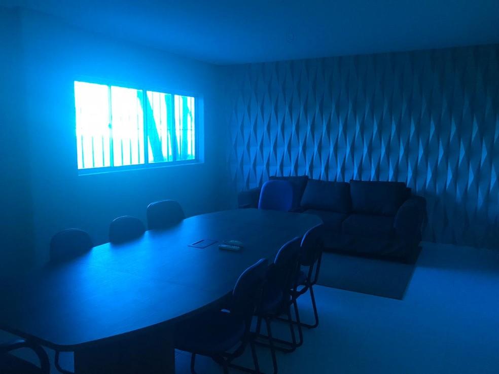 Sala de reunião no CT Nelson Peixoto Feijó — Foto: Augusto Oliveira/ASCOM CSA