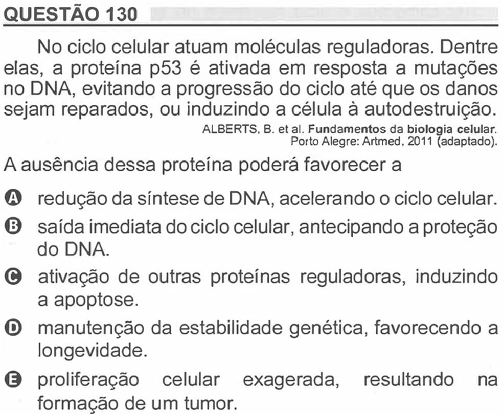 Enem 2018 - Prova Amarela - Pergunta 130 (Ciências da natureza e suas tecnologias) — Foto: Reprodução