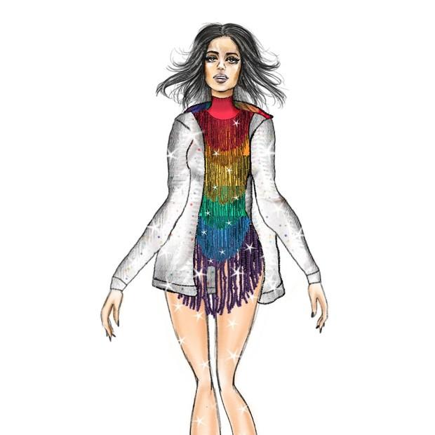 Exclusivo: veja o croqui do look de Anitta na Parada LGBTQ  (Foto: André Philipe)