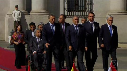 Jair Bolsonaro se reúne no Chile com líderes sul-americanos para a criação do Prosul