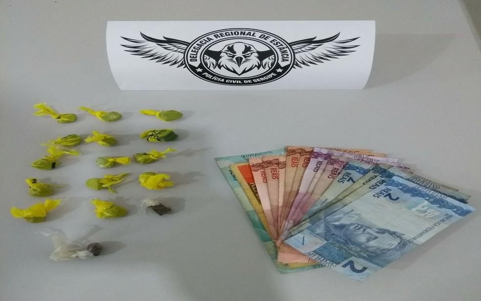 Material apreendido pela polícia em Estância (SE) (Foto: Polícia Civil)