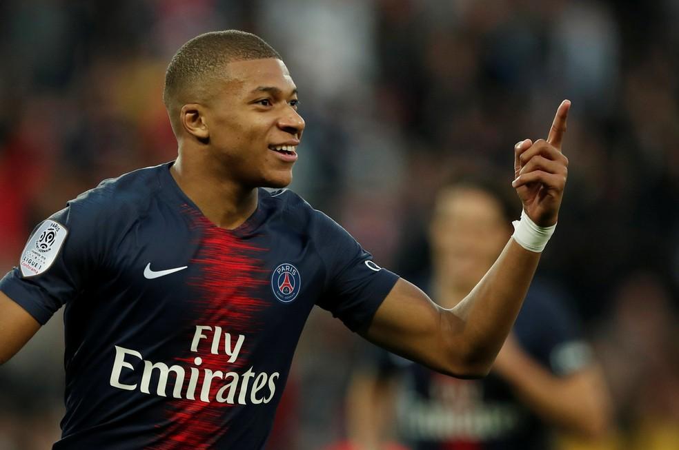 Mbappé foi avaliado como jogador mais caro do mundo — Foto: Reuters