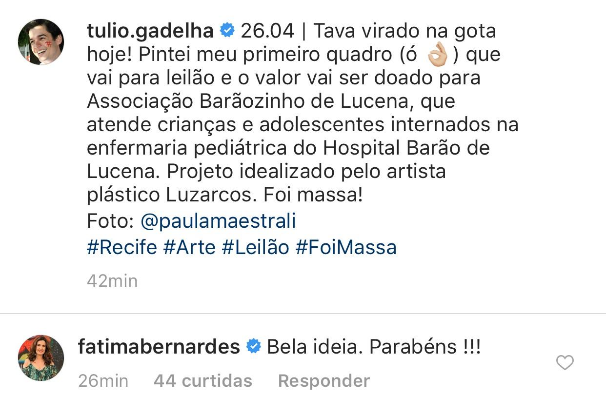 Túlio Gadelha pinta quadro (Foto: reprodução/Instagram)