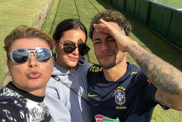 David, Bruna e Neymar  (Foto: Reprodução)