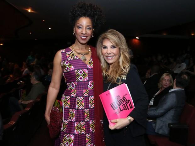 Adriana Lessa e Teresinha Sodré (Foto: AgNews/Daniel Pinheiro)