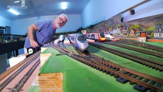 Programa conheceu personagens apaixonados por trens
