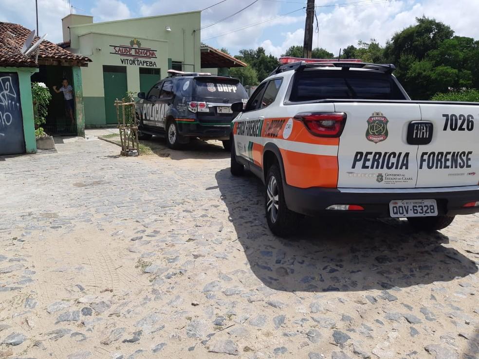Vítima não possuía antecedentes criminais. Polícia Civil investiga o caso.   — Foto: Leaben Monteiro/TV Diário
