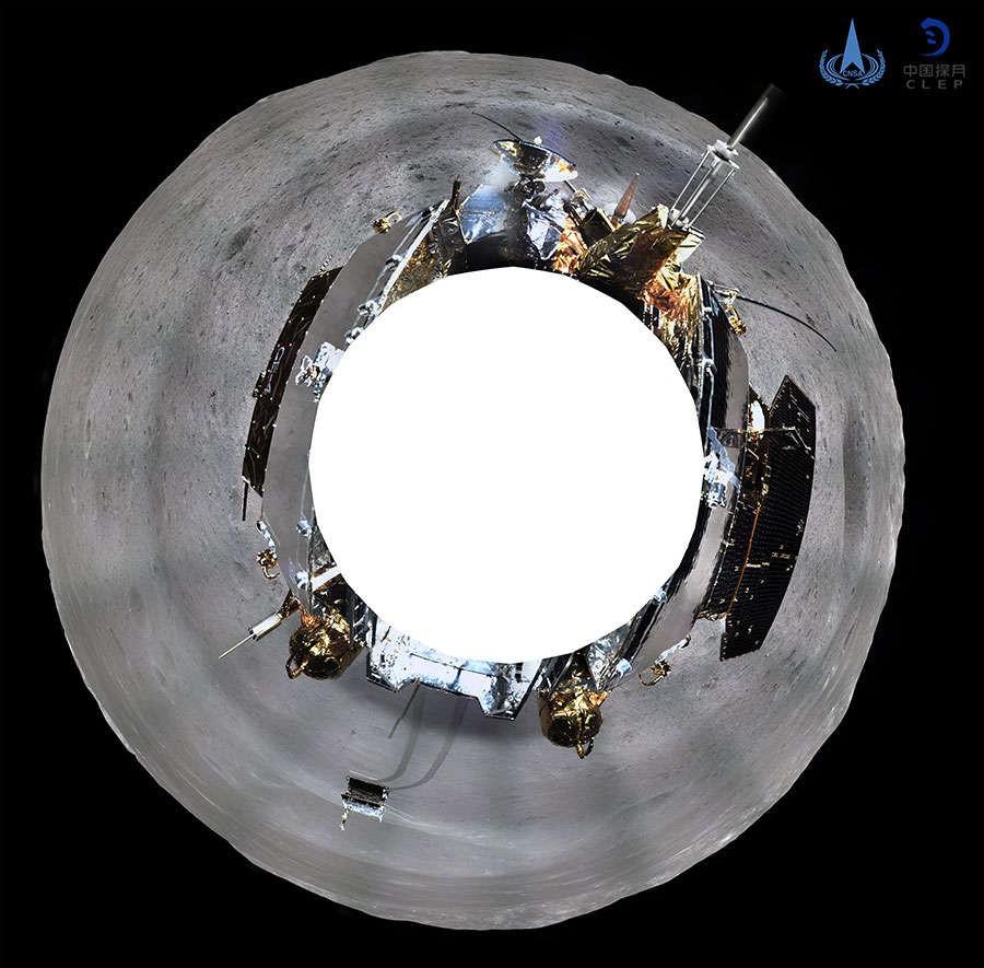 """""""Autorretrato"""" feito por sonda chinesa (Foto: Divulgação)"""