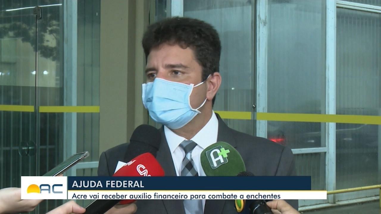 Governador vai a Brasília tratar sobre situação dos imigrantes e enchentes no AC
