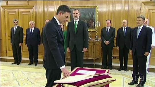 Pedro Sánchez toma posse como novo primeiro-ministro da Espanha