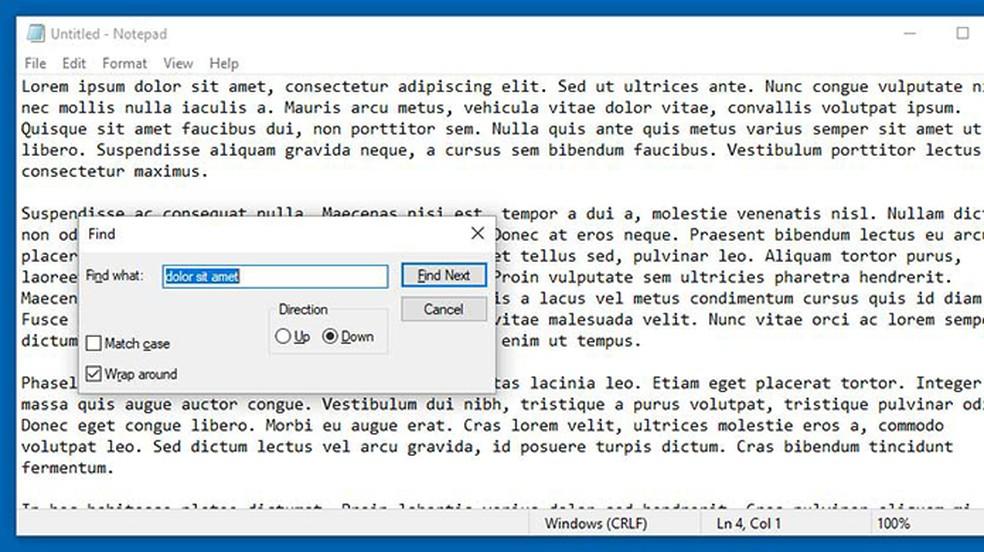 Bloco de Notas terá ferramenta de localizar e substituir e mais novidades — Foto: Reprodução/Bleeping Computer