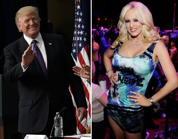 Donald Trump e a atriz Stormy Daniels (Foto: Getty Images)
