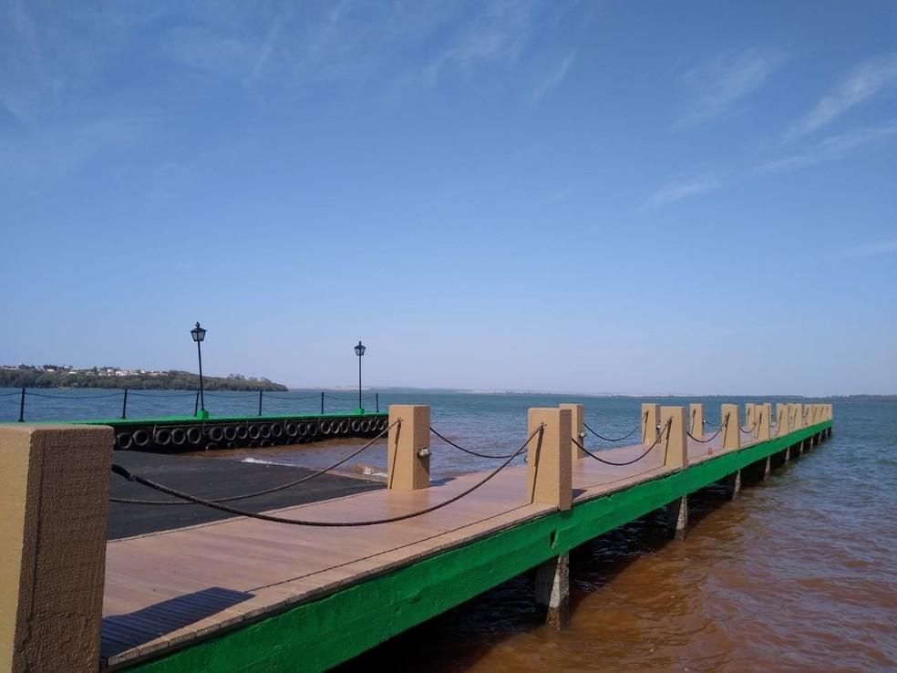 Parque de Lazer de Porto Mendes não cobra nenhuma taxa dos visitantes — Foto: Prefeitura de Marechal Cândido Rondon/Divulgação