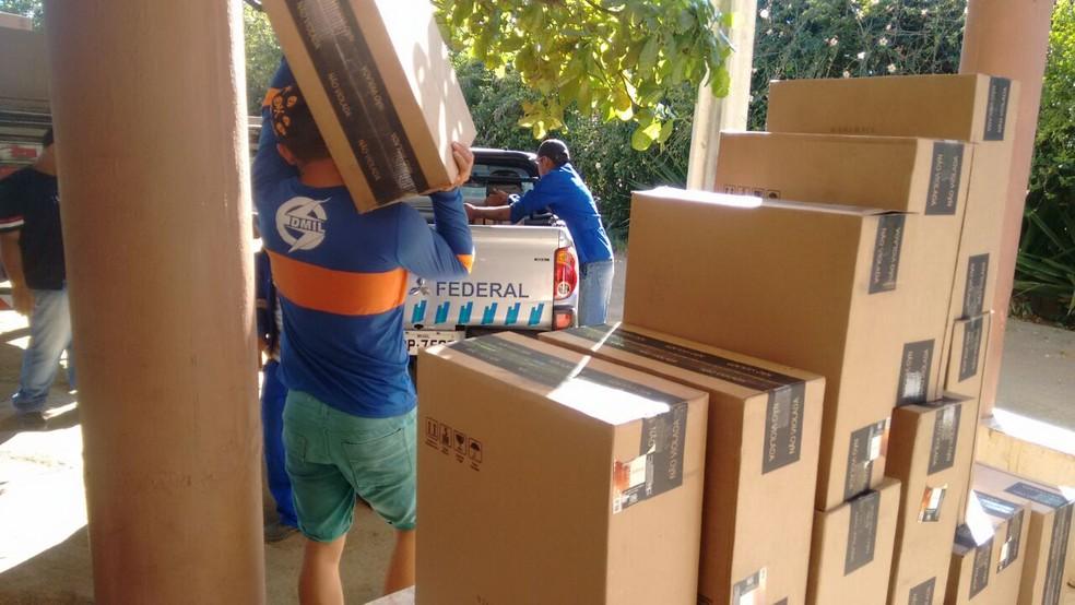 Operação aconteceu em parceria com a Receita Federal.  (Foto: Divulgação/PF)