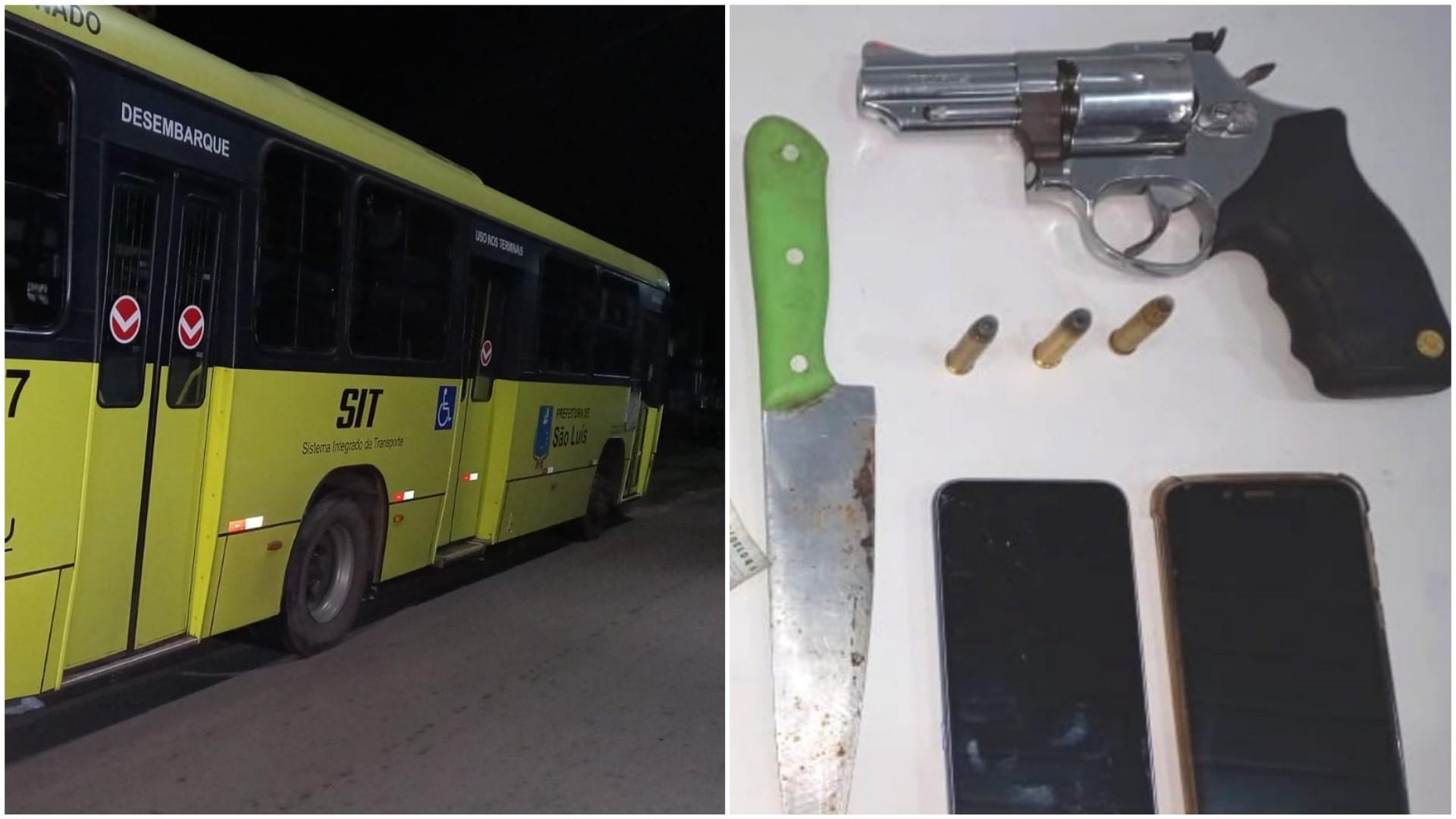 Na mesma noite, assaltantes de ônibus são interceptados em dois coletivos em São Luís