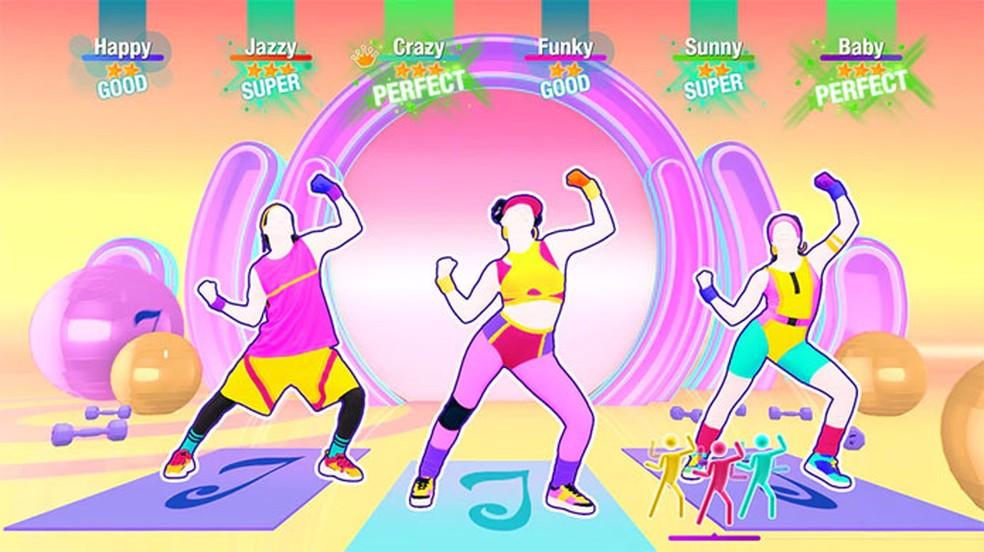 Extremamente popular, jogos da franquia Just Dance são comumente utilizados como forma de praticar exercícios físicos — Foto: Divulgação/Ubisoft