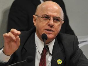 Othon Luiz participou, em 2011, de audiência no Senado para discutir o sistema de energia nuclear do país  (Foto: Antonio Cruz/ABr)