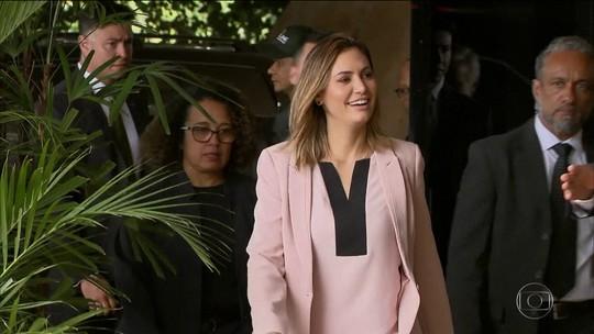 Michelle Bolsonaro e Marcela Temer se encontram em Brasília nesta quarta (21)