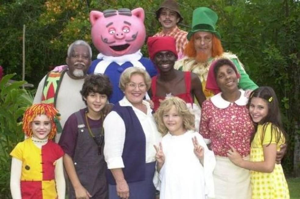 Série do Sítio do Picapau Amarelo, remake feito pela TV Globo dos anos 2001 a 2007 — Foto: Divulgação/BBC