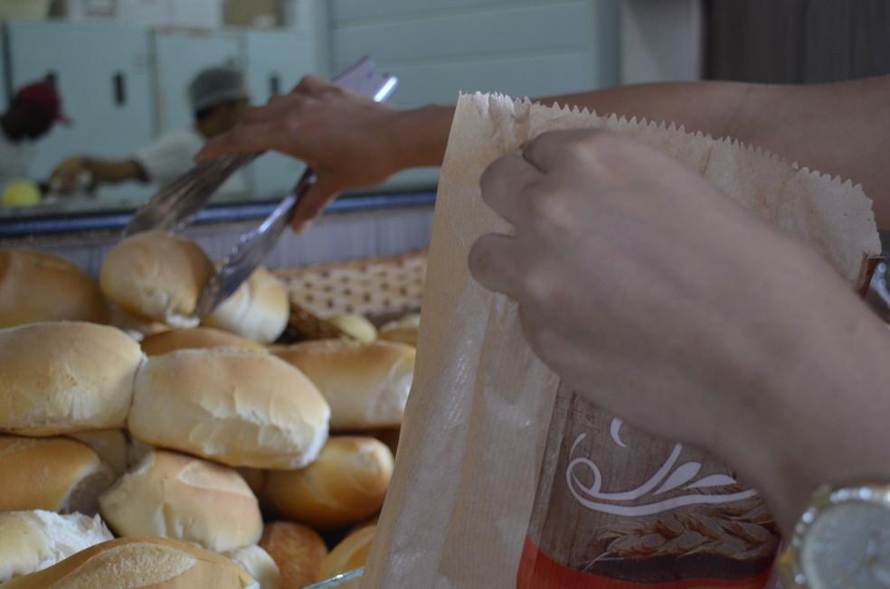 Projeto incentiva doação de pães a pessoas carentes em São José — Foto: Dyepeson Martins/G1