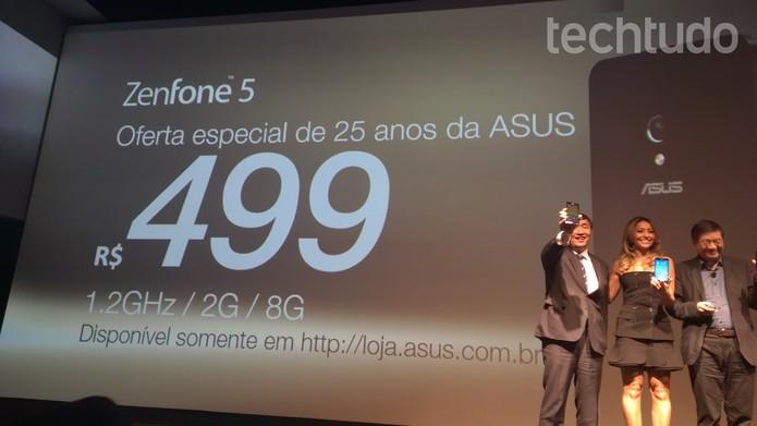 ZenFone  (Foto: Isadora Díaz/TechTudo)