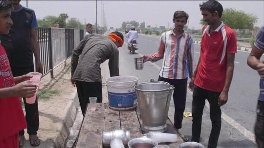Onda de calor de mais de 50° atinge a Índia e o Paquistão
