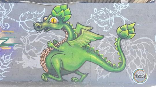 Empresários apostam em grafites para conter pichações em Bragança Paulista