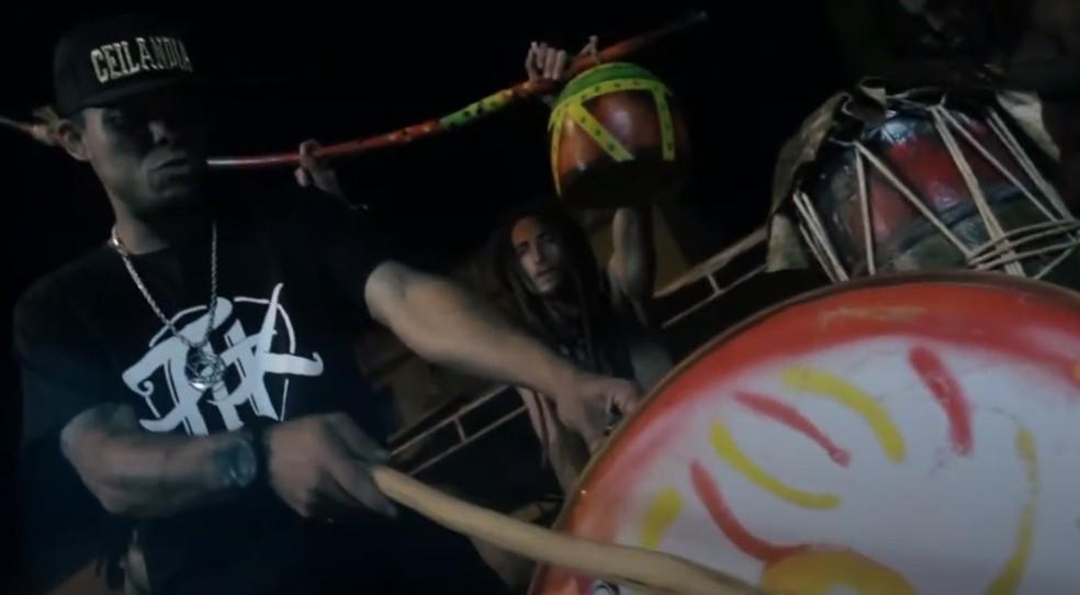 Rapper Diogo Loko, do DF, em videoclipe — Foto: Divulgação