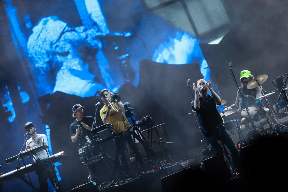 The National se apresenta no segundo dia do Lollapalooza 2018 (Foto: Fabio Tito/G1)