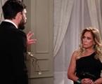Pilar (Susana Vieira) e Maciel (Kiko Pissolato): romance à vista em 'Amor à vida' | Divulgação/TV Globo