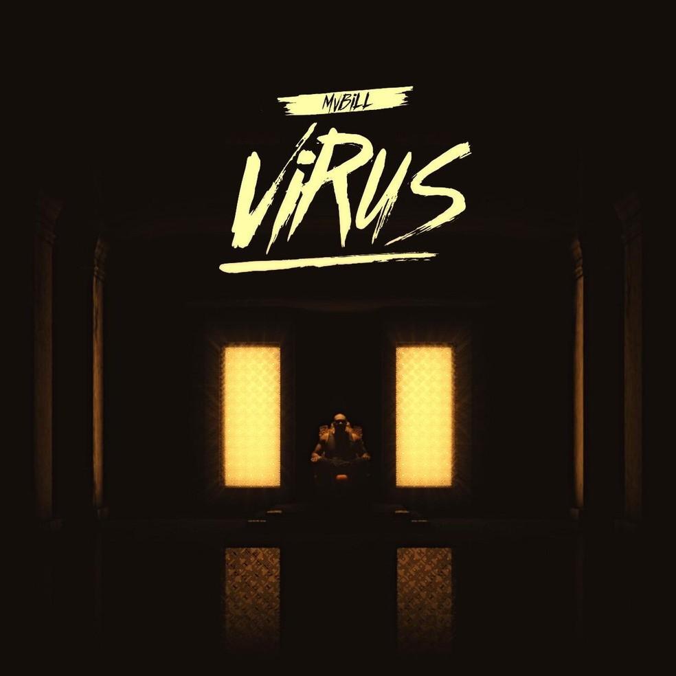 Capa do single 'Vírus', de MV Bill — Foto: Divulgação