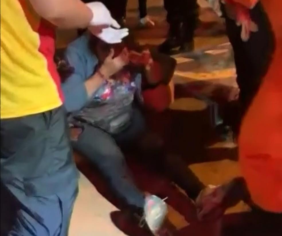 Vendedora de balões de 73 anos é arrastada por carro, no DF, ao negar produto de graça  — Foto: Arquivo pessoal