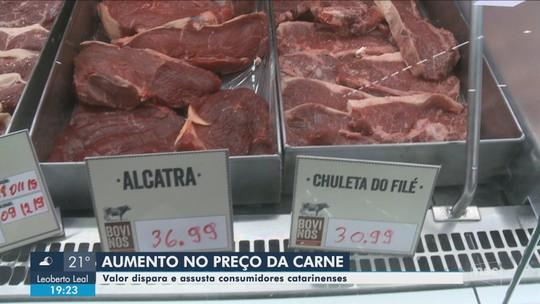 Aumento do preço da carne bovina em SC chega a 25%