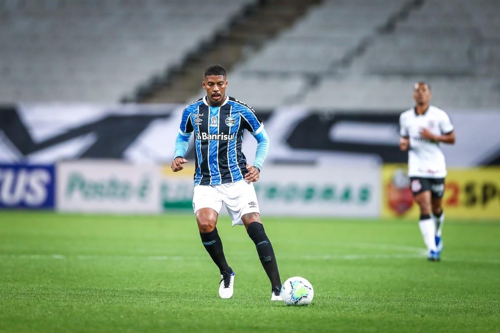 Jean Pyerre atuou longe da área em empate — Foto: Lucas Uebel/Gremio