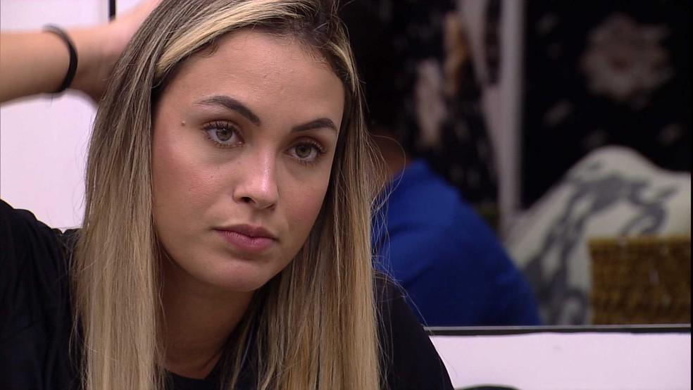 Sarah aponta sobre brothers do BBB21: 'Eles estão tentando me pintar de vilã' — Foto: Globo