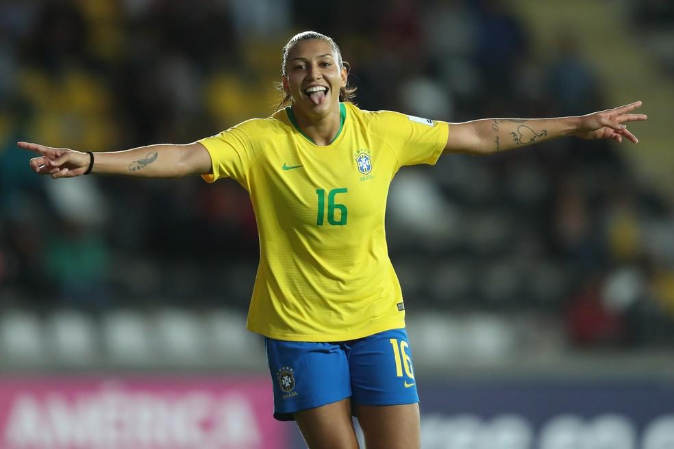71e7d28c29df0 ... Bia Zaneratto marcou duas vezes e chegou a cinco gols na Copa América —  Foto