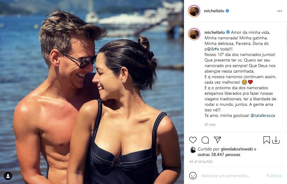 Thais Fersoza e Michel Teló  (Foto: Reprodução/Instagram)