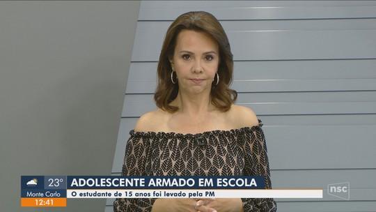 Adolescente de 15 anos é encontrado com arma em escola estadual na Grande Florianópolis