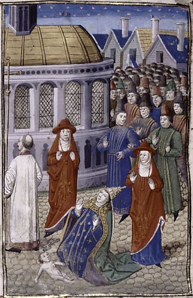 Papa Joana teria dado à luz uma criança, diz uma teoria (Foto: Giovanni Boccaccio/Wikimedia Commons)