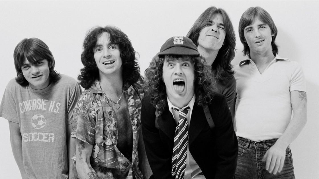 O grupo australiano AC/DC, nos anos 1970