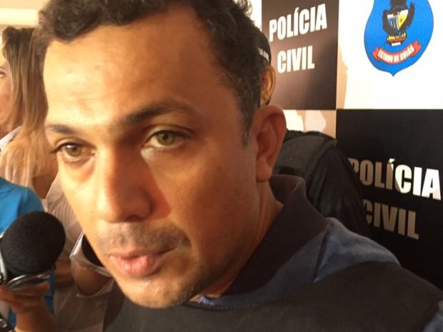 Cleudimar Rodrigues, preso suspeito de envolvimento na morte da professora Maria da Conceição Campos, em Goiás (Foto: Murillo Velasco/G1)