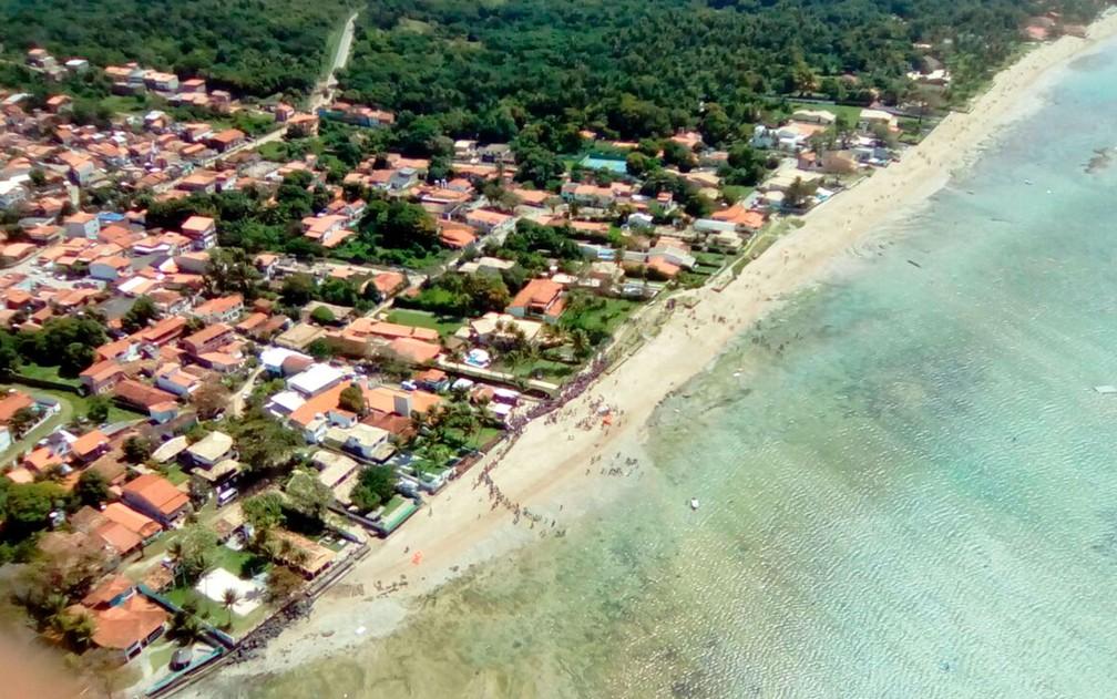 Acidente ocorreu em Mar Grande, a cerca de 200 metros da costa (Foto: Rafael Alves/TV Bahia)